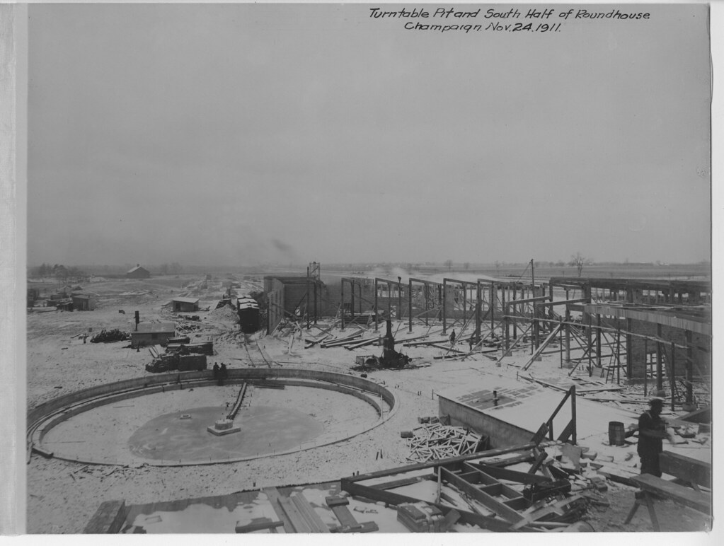South Half of Roundhouse November 24, 1911