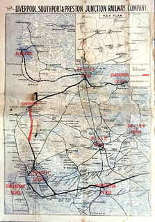 Liverpool, Southport and Preston Junction Railway Prospectus map   by ian.dinmore