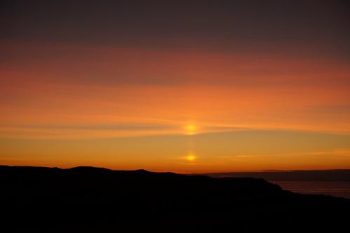 sunset sea sun norway landscape