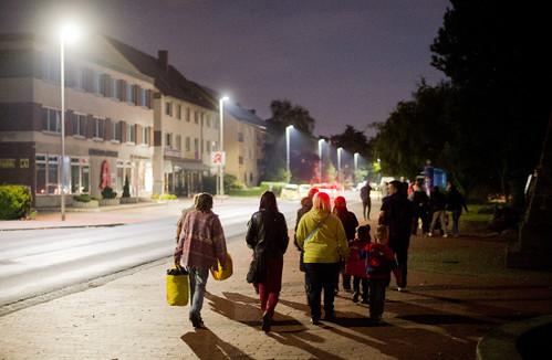 evacuación de personas en Seelze