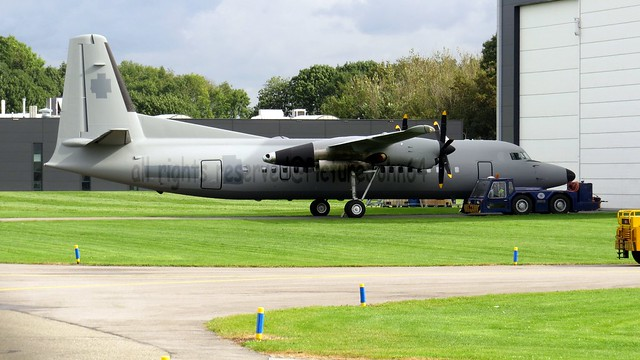 After Paintjob: Peruvian Navy  Fokker 50 (ex U-06 Netherlands Air Force) at Quality Aircraft Painting Services (QAPS) at Lelystad Airport