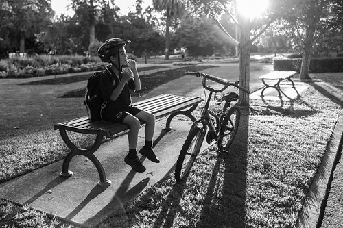 child family boy boyhood childhood bike bicycle 35mm summilux leica blackandwhite monochrome mono queenspark toowoomba queensland portraiture people sunset dusk twilight