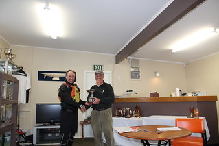 Jeff Coffin, winner of the Kaiahiku Trophy for most wins with Will Perry | by PLSC (Panmure Lagoon Sailing Club)