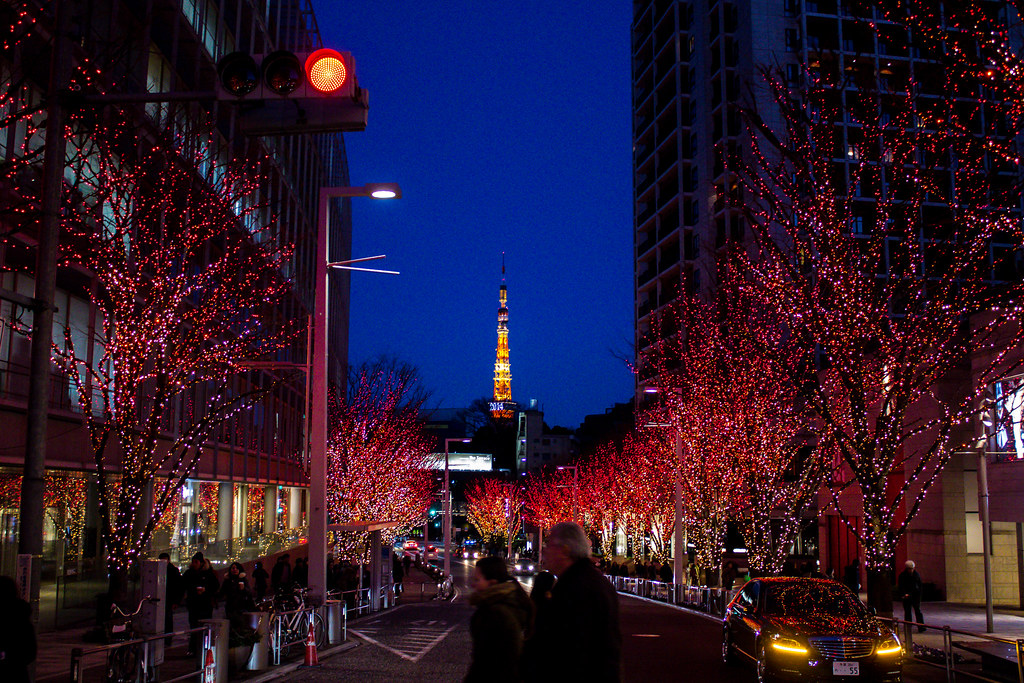 Tokyo Tower from Roppongi 六本木から東京タワー