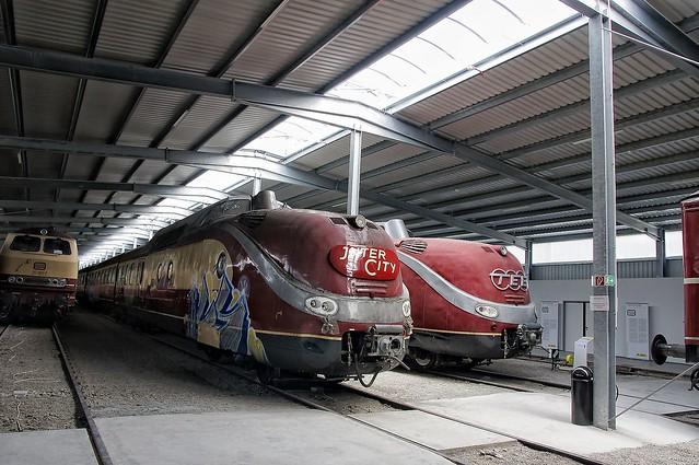 Zwei TEE Baureihe 601 in der Horber Eisenbahn-erlebniswelt