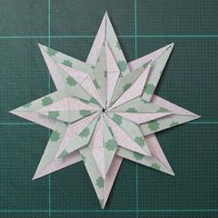 การพับกระดาษเป็นสัญลักษณ์ดาวแปดแฉกคู่ (Double Eight-Pointed Stars Origami) 012