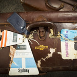 Globite case with travel labels