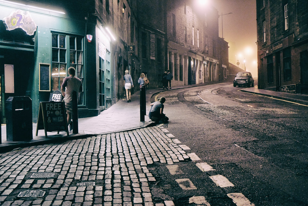 Eerie night in Edinburgh