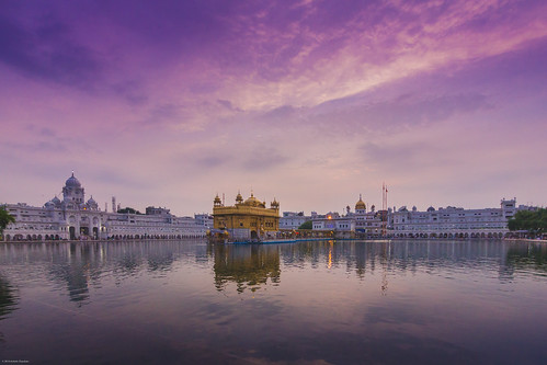 travel trees sunset red white reflection water clouds temple gold golden pond colours peace purple ngc flags soulful amritsar gurudwara goldentemple langar amritbani
