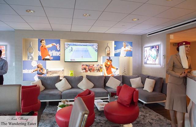 Inside the Emirates Suite