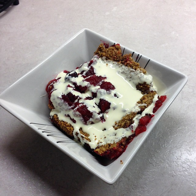Hmm homemade apple and blackcurrant   crumble #Nom