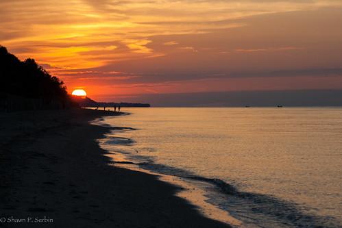 ocean sunset sun newyork clouds unitedstates longisland soundbeach