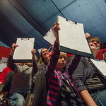 Audience drawings in Sarah Mcintyre and Philip Reeve event |