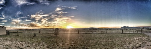 sunset panorama newmexico nature rural landscape widescreen edgewood iphone iphoneography iphone5s