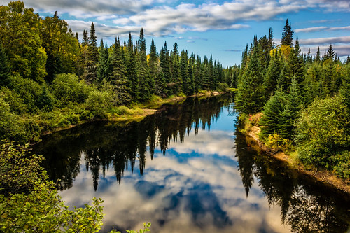 park sky water clouds forest river landscape quebec national tremblant mont laurentians sonya65