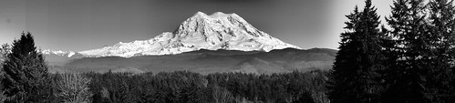 bw panorama mountain volcano washington state sony scenic rainier vista a37