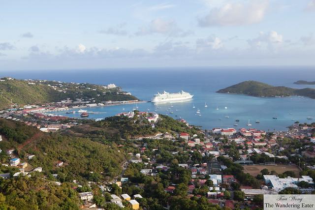 Charlotte Amalie, viewed from Drake's Seat