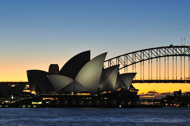 Sydney Opera House at sunset.   JDX_1100