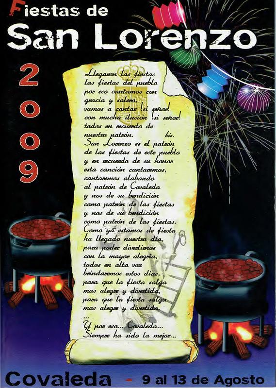 Programa Fiestas de San Lorenzo Año 2009