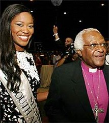 Thuli with Arch Bishop Desmond Tutu   by consultinginspire