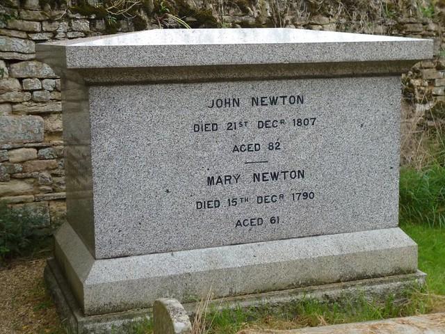 John Newton's grave
