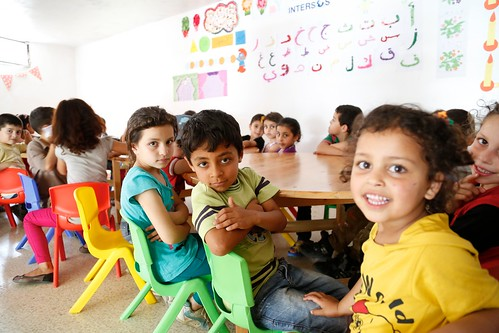 Syrian primary school children attending catch-up learning classes in Lebanon   by DFID - UK Department for International Development