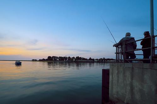sunset sea relax landscape evening pier seaside fishing poland baltic fujifilm gdańsk xe2