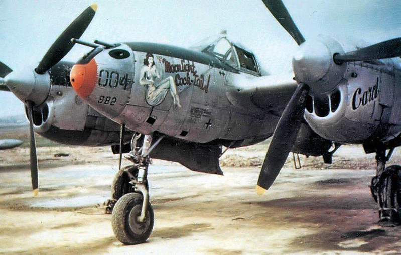 "P-38 LIGHTNING ""MOONLIGHT COCK-TAIL """