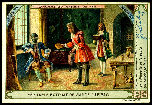 """Liebig Tradecard S1007 - """"The Man in the Iron Mask"""""""
