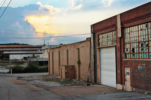 blue sunset sky orange sun industry chattanooga yellow architecture angel sunrise alley heaven factory miracle tennessee warehouse yesterday lookoutmountain broadstreet idintifymedia