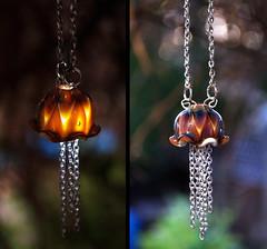 LED jellyfish necklace