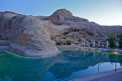 Amangiri Pool at Sunset   by jurvetson