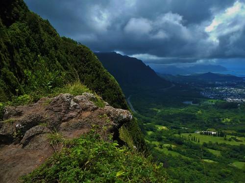 summer sky storm mountains clouds geotagged hawaii nikon rainforest day oahu hiking july hike climbing palilookout 2014 palipuka nikoncoolpixaw100 palipukatrail