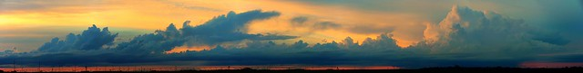 062214 - Developing Storm Cells over South Central Nebraska (Pano)