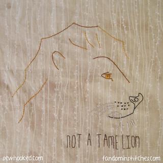 Aslan: Not A Tame Lion | by Jennifer Ofenstein (sewhooked.com)