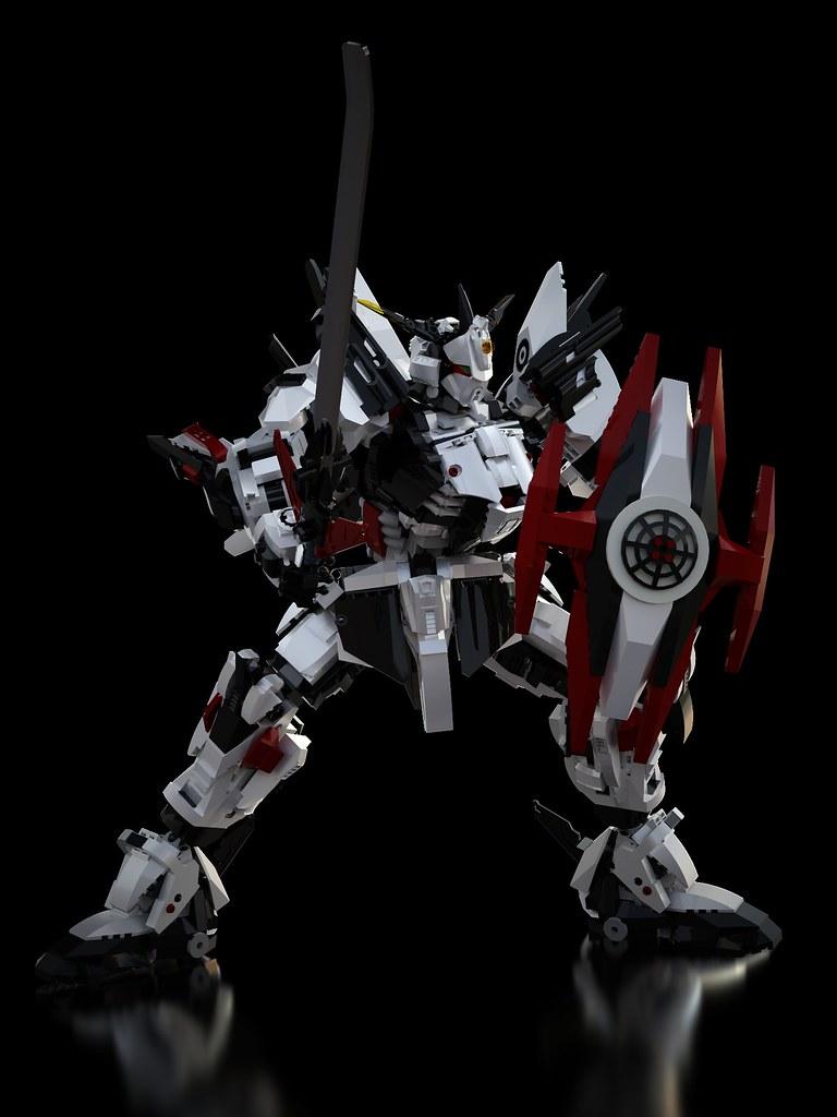 Gundam Chroma S1 Virya White Armor (pose_05 )