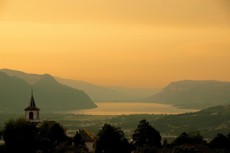 Chambéry et le Lac du Bourget depuis Montagnole