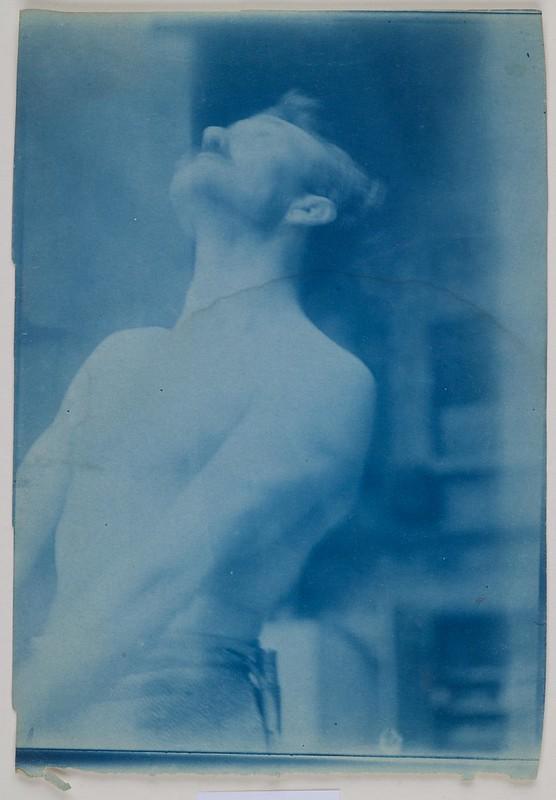 Axel Gallén posing as a robber of the Sampo ca.1905; photograph 1.