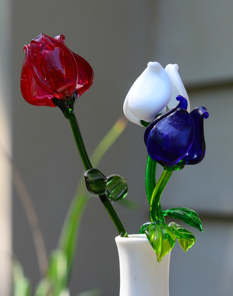 Image result for american flag with roses red, white and blue