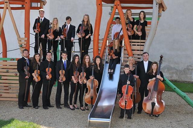 Soustředění Smyčcového orchestru Jeseník ve Vidnavě