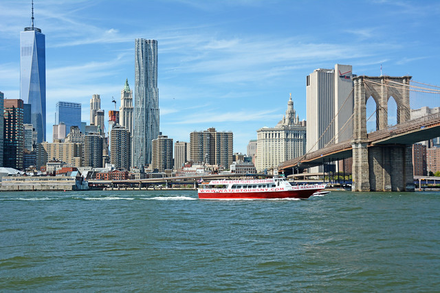 Picture Of Lower Manhattan Including One World Trade Center Taken From Brooklyn. Photo Taken Sunday September 14, 2014