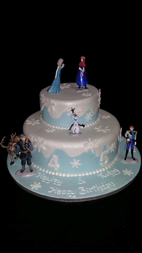 Swell Frozen Themed Birthday Cake Debbie Flickr Personalised Birthday Cards Paralily Jamesorg