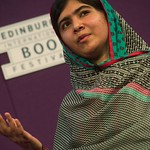 Education campaigner Malala Yousafzai gave an inspiring talk for school children at the Edinburgh International Book Festival |
