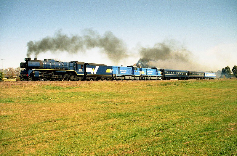 West Coast and Steamrail combine by David Arnold