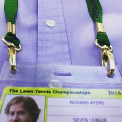 Even the lanyards are high quality. #Wimbledon2015