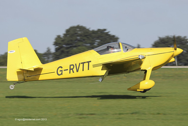 G-RVTT - 2010 build Vans RV-7, arriving at Sywell during the 2013 LAA Rally