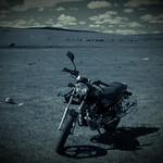 A Bike on the Plains of Mongolia