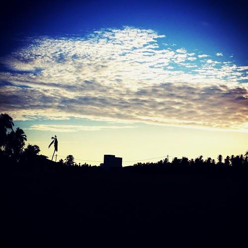 blue sunset sky white nature malaysia perak paritbuntar