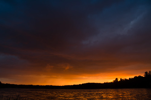 sunset sky lake water colors clouds landscape evening spring view bright