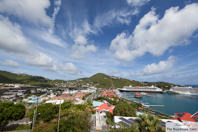Stunning view of Cay Bay of Charlotte Amalie, St. Thomas (looking west)